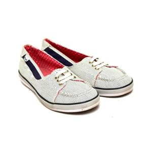 Keds Sneakers Tennis Shoes Striped Slip On Canvas